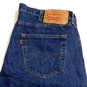 Levi's 501 Jeans Dark Wash Straight Leg Button Fly